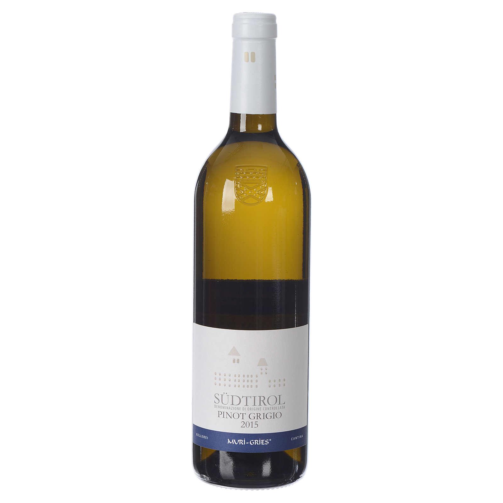 Vino Pinot Grigio DOC 2015 Abbazia Muri Gries 750 ml 3