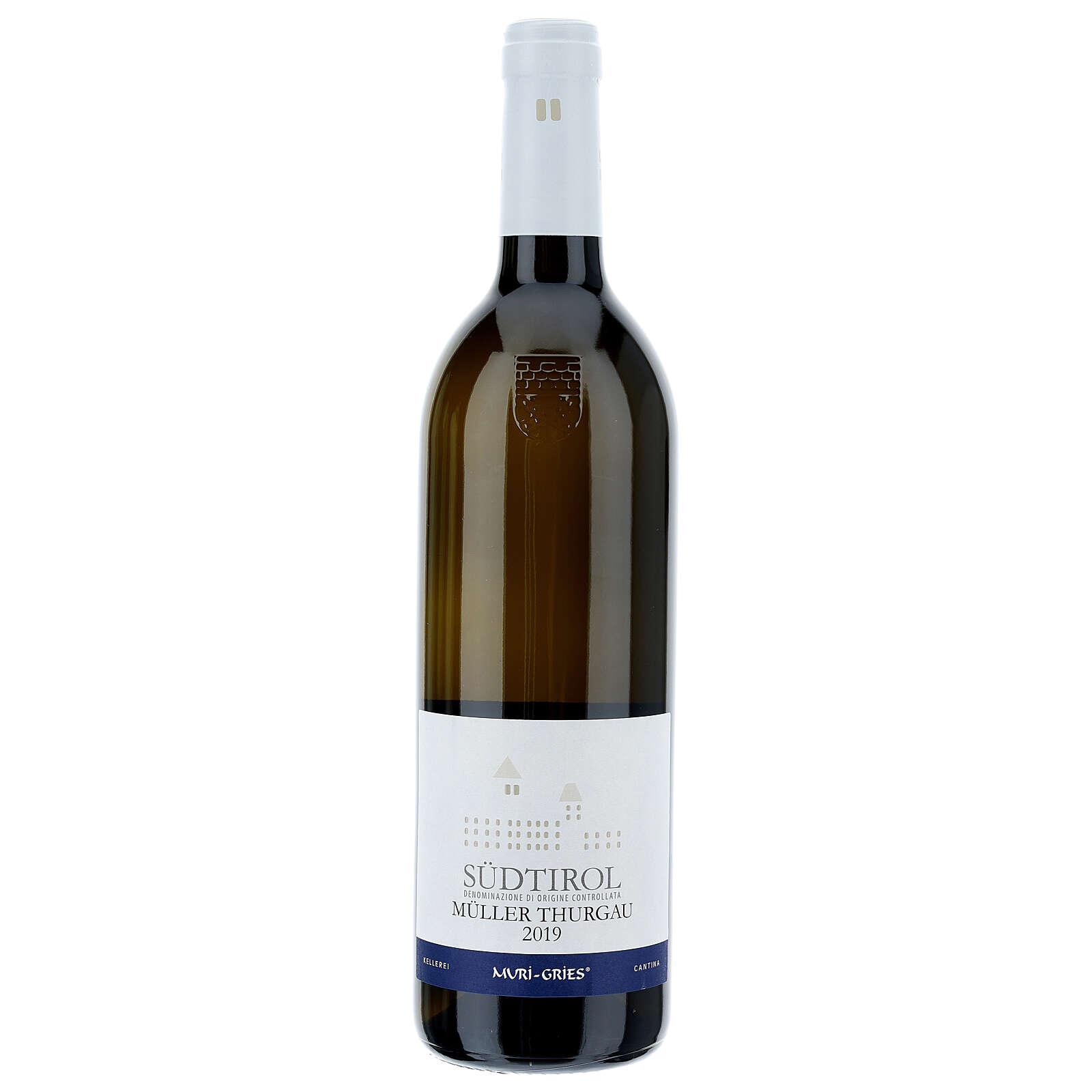 Vino Muller Thurgau DOC 2019 Abadía Muri Gries 750 ml 3