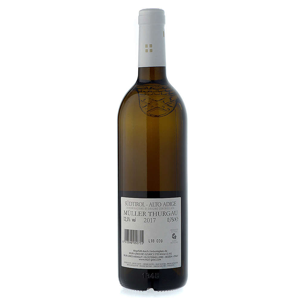 Vino Muller Thurgau DOC 2017 Abbazia Muri Gries 750 ml 3