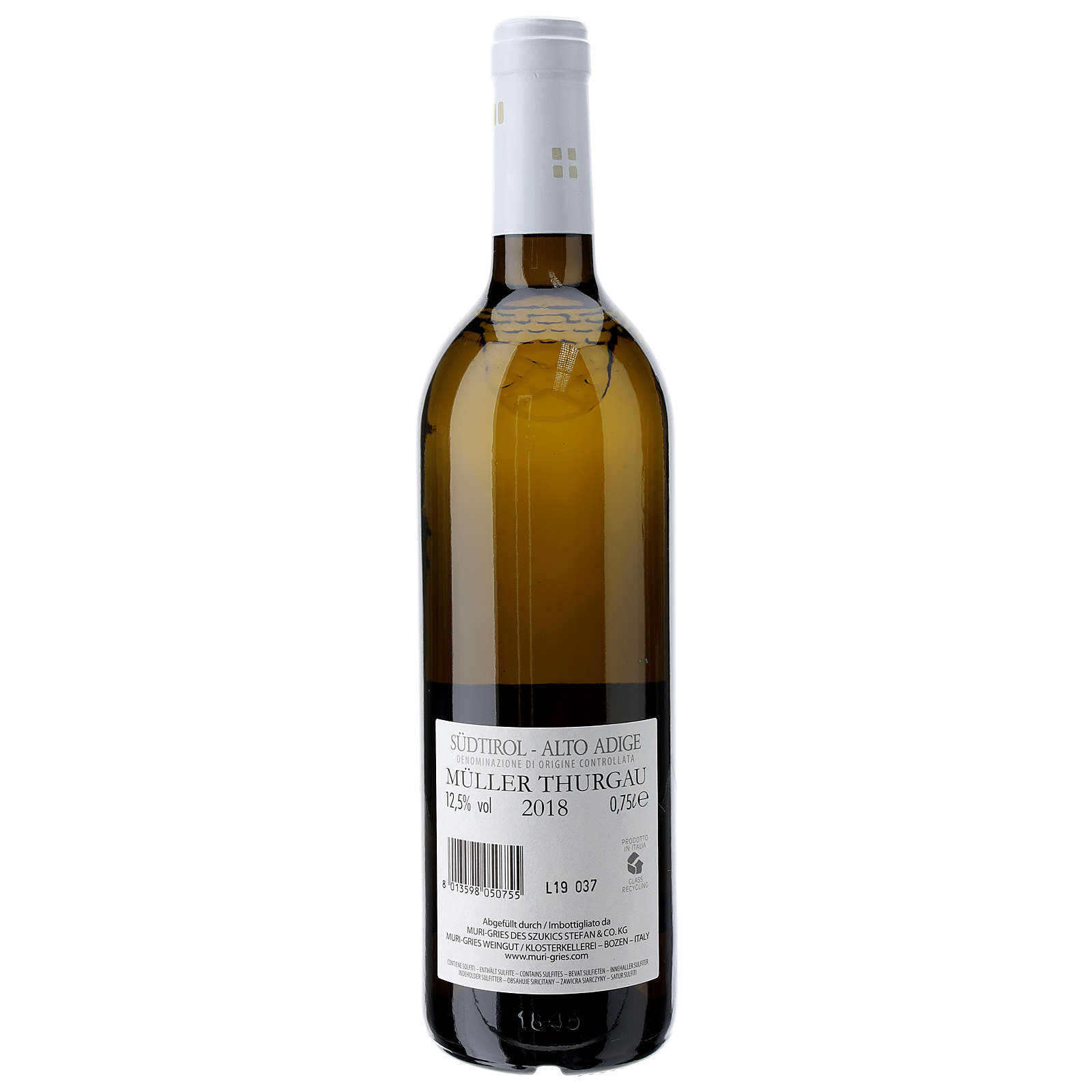 Vino Muller Thurgau DOC 2018 Abbazia Muri Gries 750 ml 3