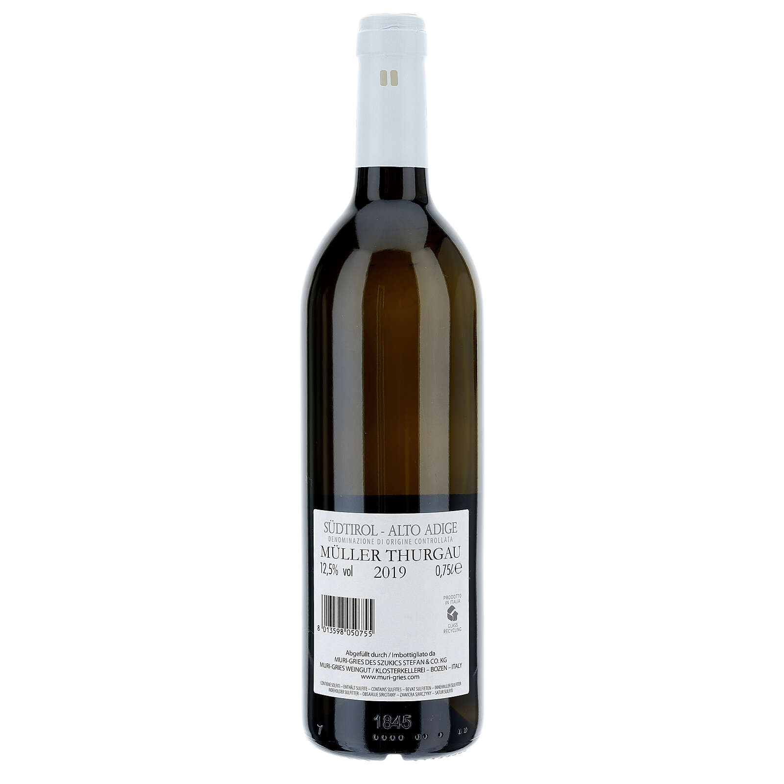 Muller Thurgau DOC white wine Muri Gries Abbey 2019 3