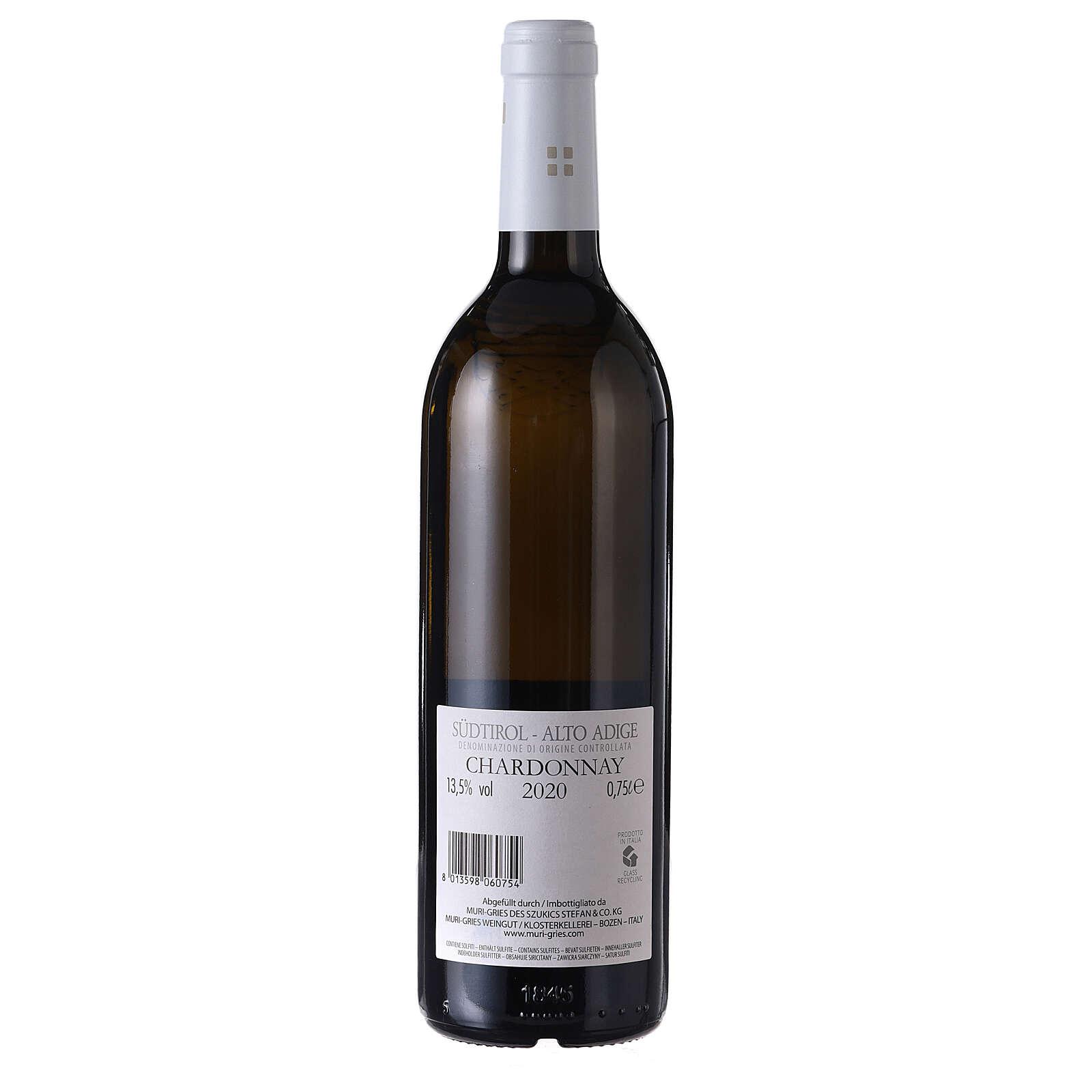 Chardonnay DOC white wine Muri Gries Abbey 2020 3