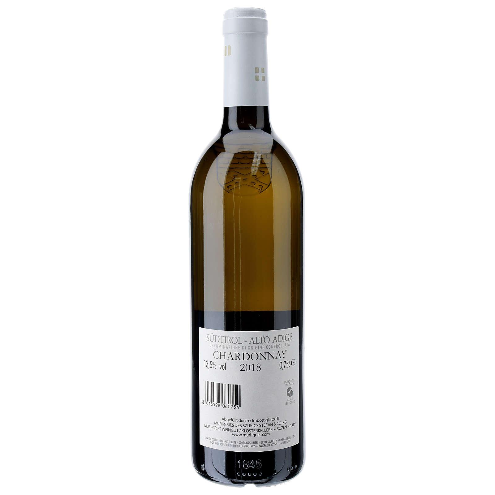 Vino Chardonny DOC 2018 Abadía Muri Gries 750 ml 3