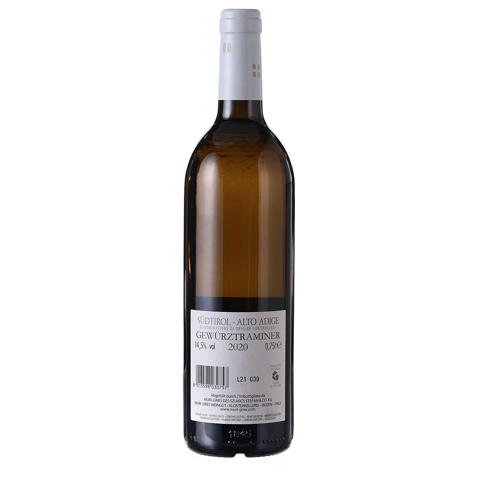 Traminer Aromatico DOC white wine Muri Gries Abbey 2020 3