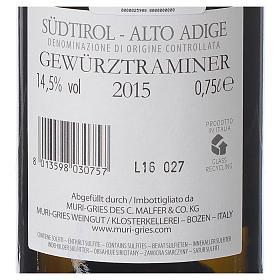 Vinho Traminer Aromático DOC 2015 Abadia Muri Gries 750 ml s2