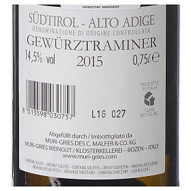 Traminer Aromatico DOC white wine Muri Gries Abbey 2015 s2