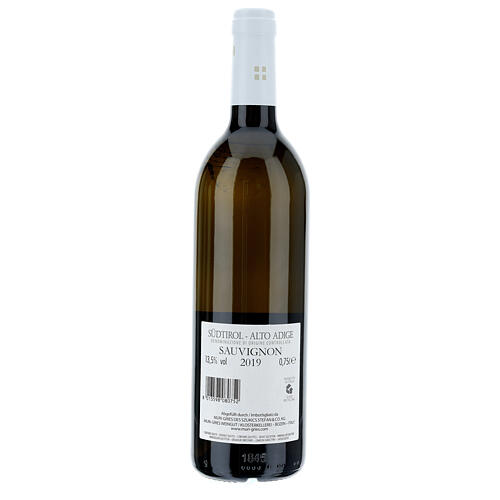 Sauvignon DOC white wine Muri Gries Abbey 2019 2