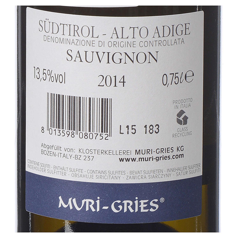 Vino Sauvignon DOC 2014 Abadía Muri Gries 750 ml 3
