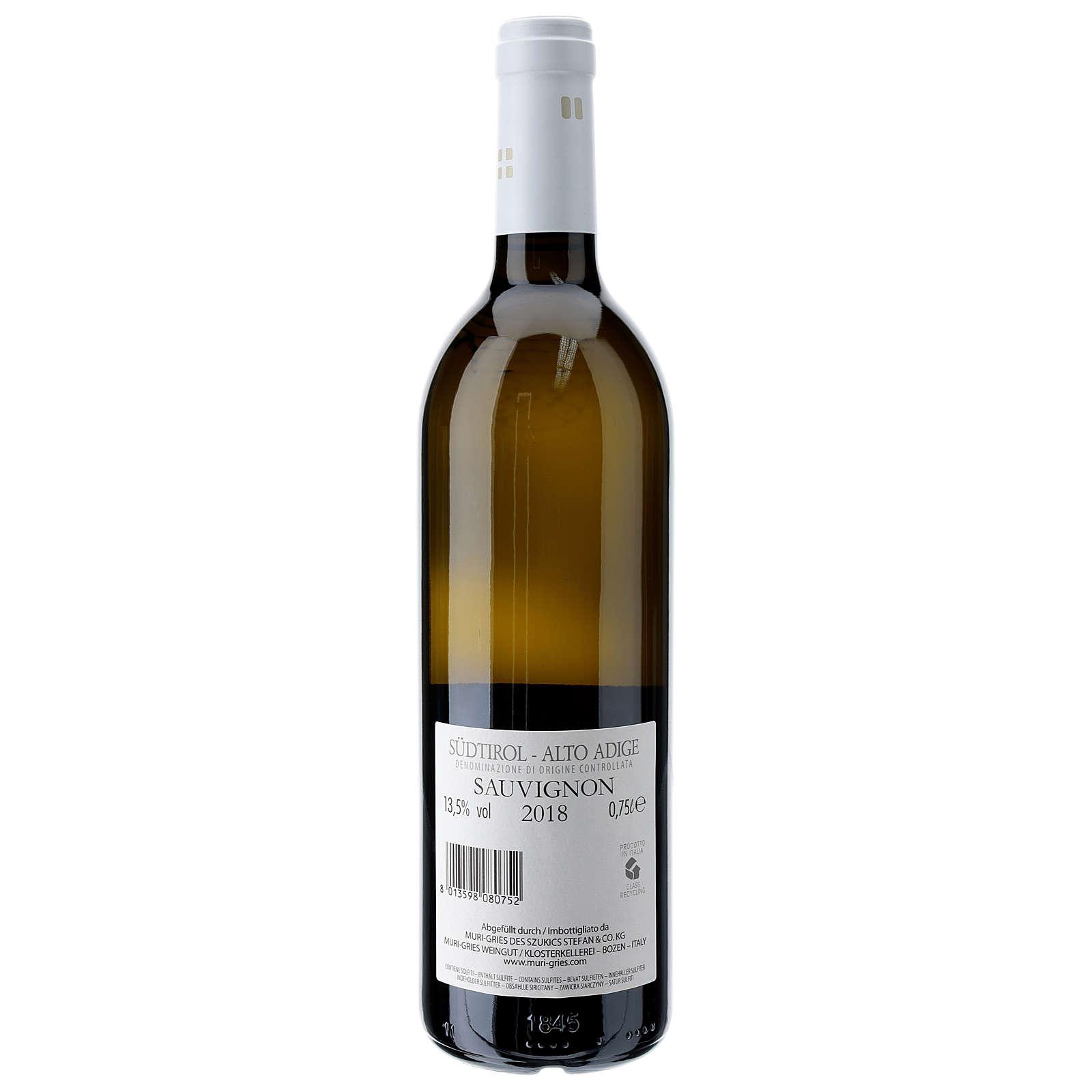 Vino Sauvignon DOC 2018 Abadía Muri Gries 750 ml 3