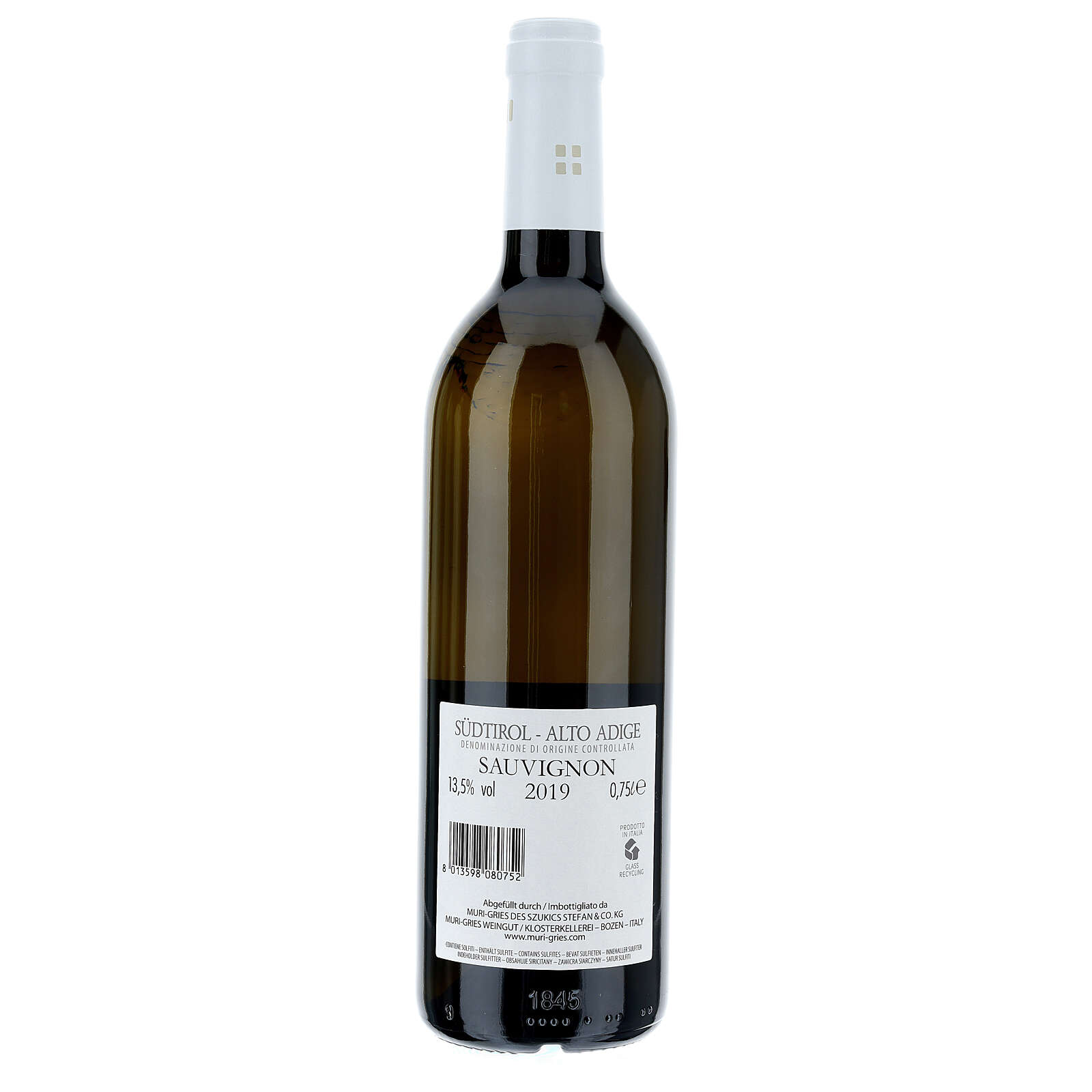 Vino Sauvignon DOC 2019 Abadía Muri Gries 750 ml 3