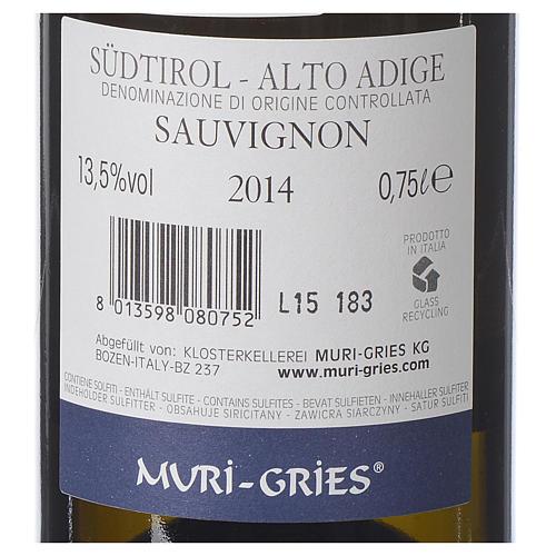 Vino Sauvignon DOC 2014 Abbazia Muri Gries 750 ml 2