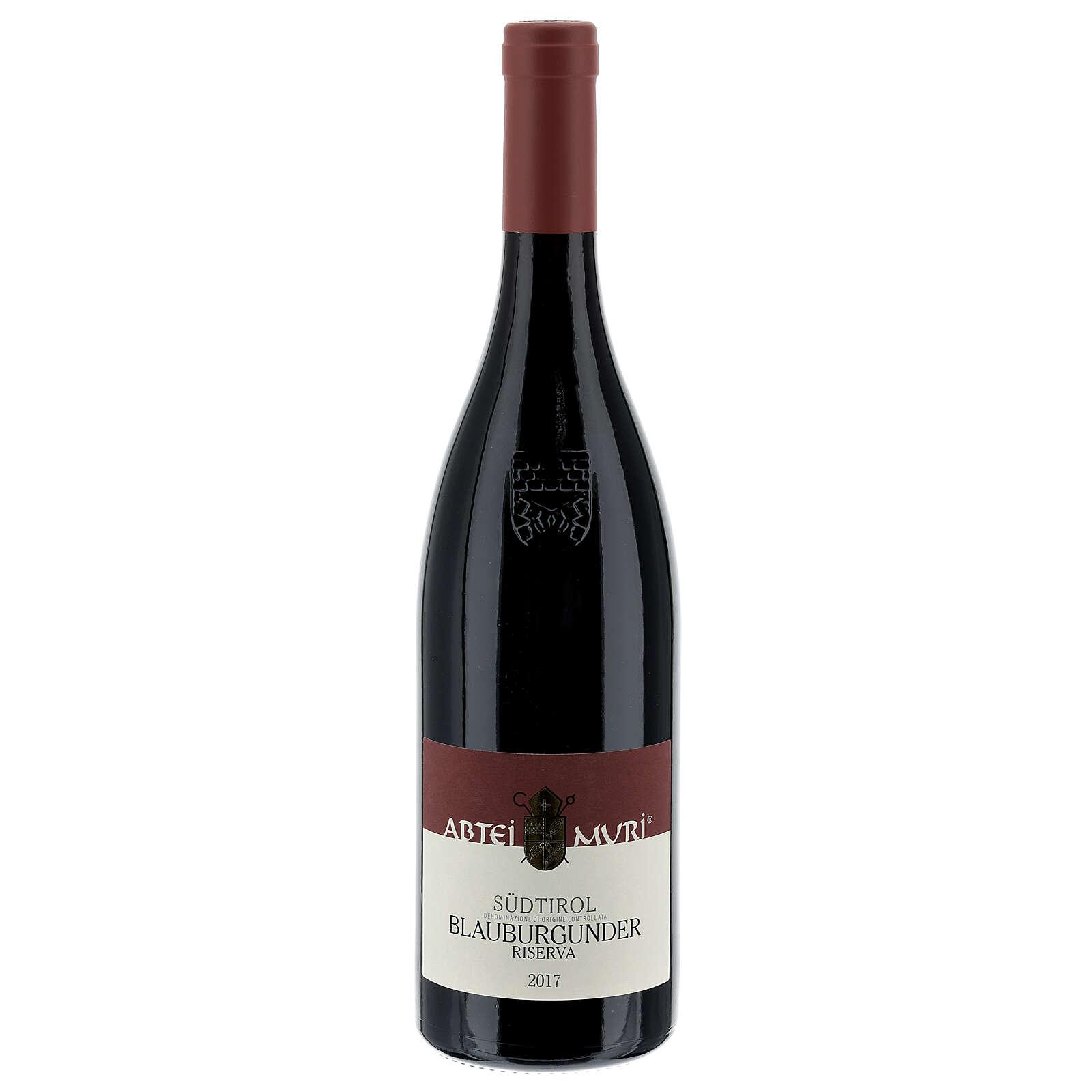 Pinot Nero Riserva DOC red wine Muri Gries Abbey 2017 3