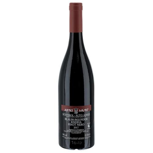 Pinot Nero Riserva DOC red wine Muri Gries Abbey 2017 2