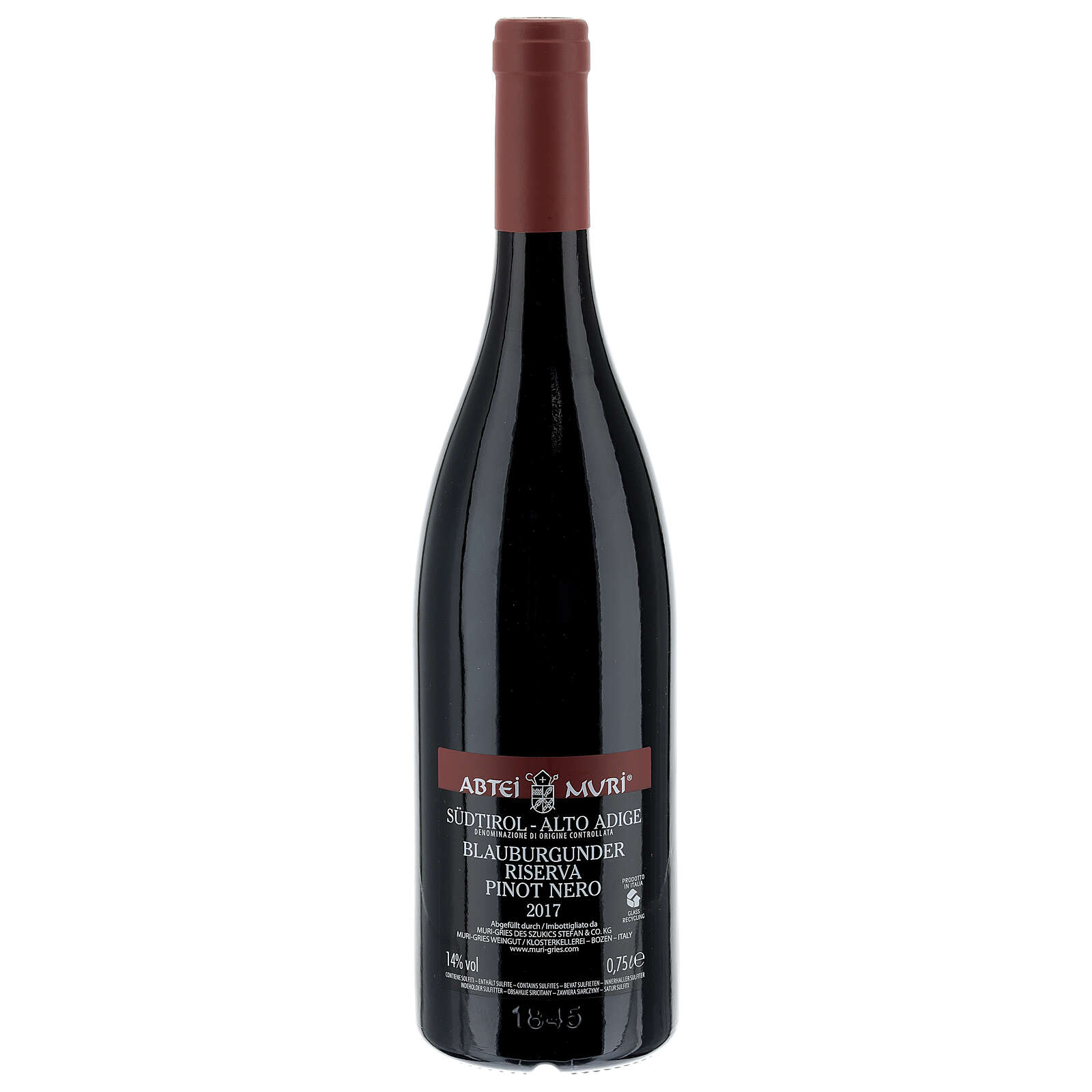 Pinot Nero Riserva DOC red wine Muri Gries Abbey 2017 3