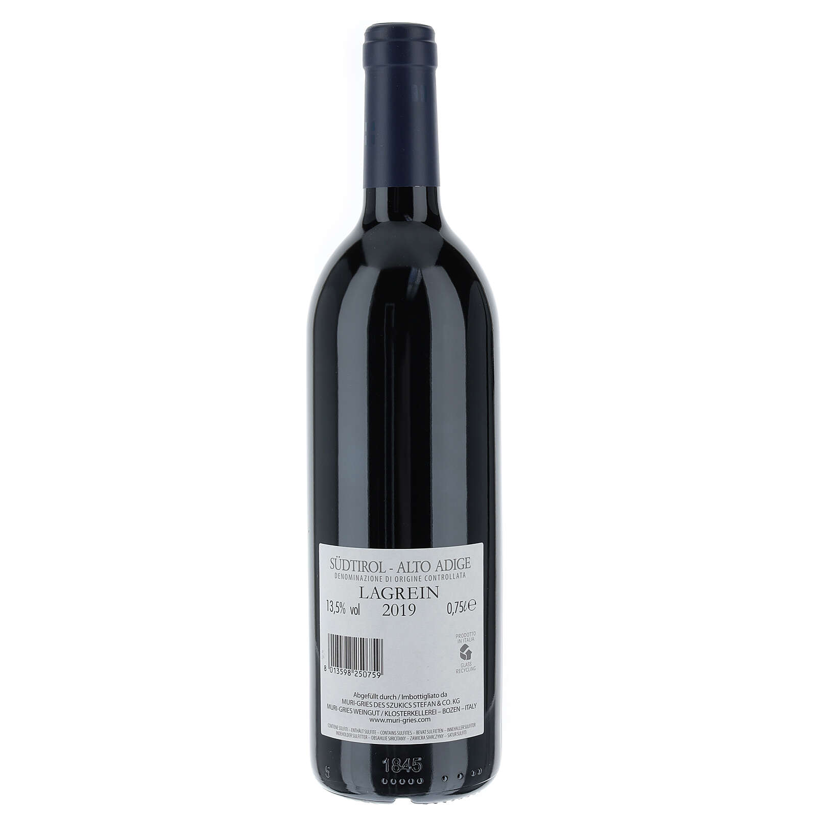 Lagrein DOC 2019 wine of the abbey Muri Gries 750 ml 3