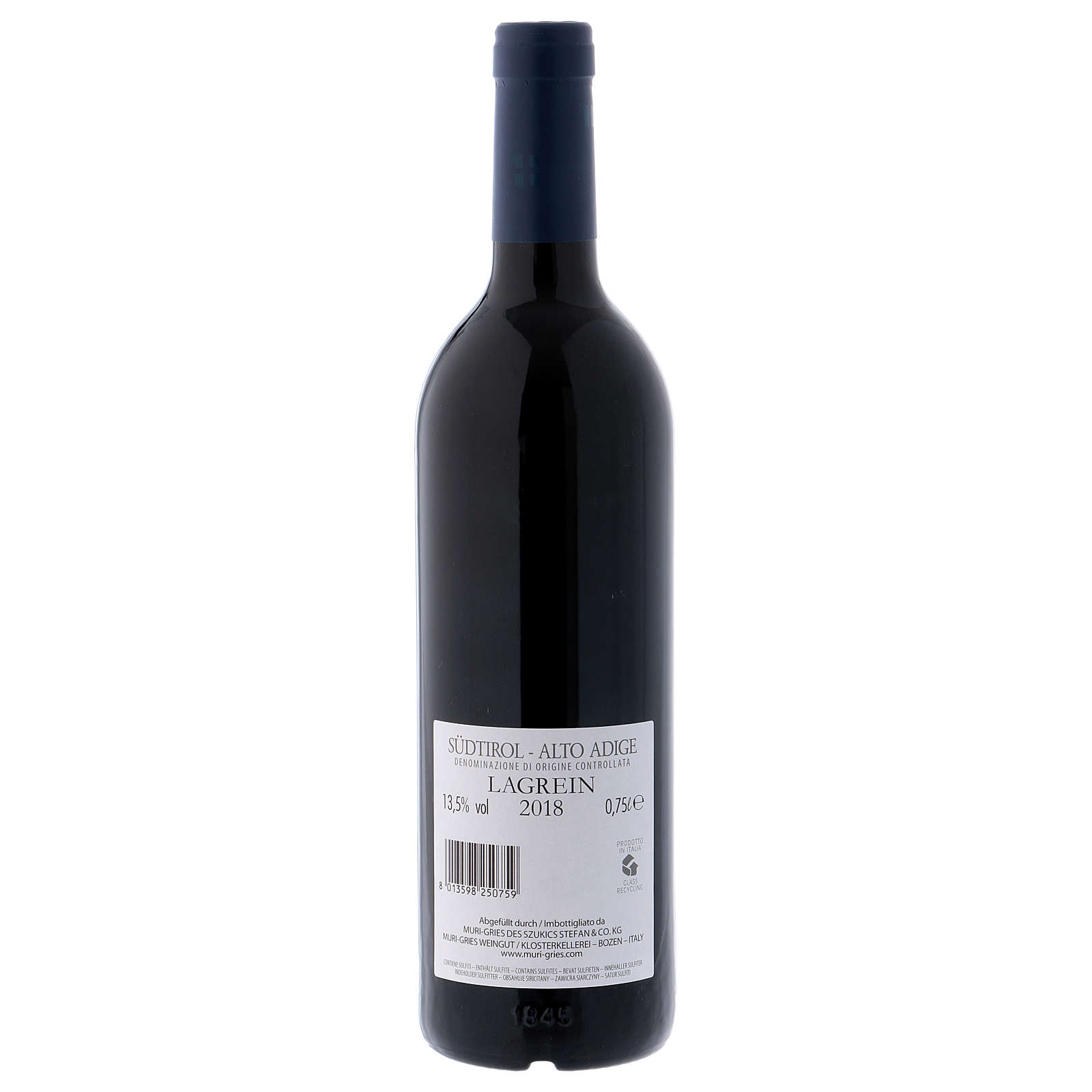 Vino Lagrein DOC 2018 Abadía Muri Gries 750 ml 3