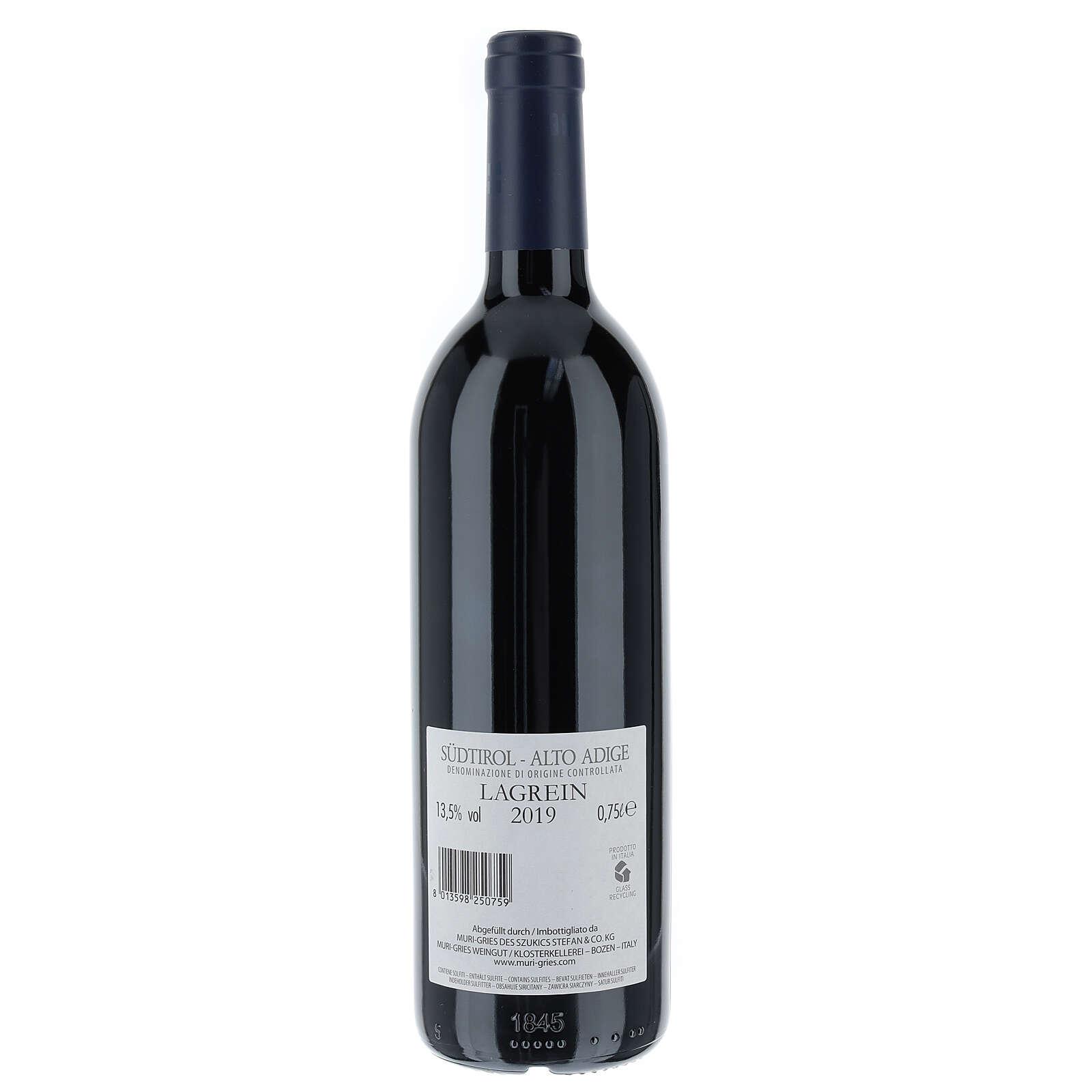 Vino Lagrein DOC 2019 Abadía Muri Gries 750 ml 3