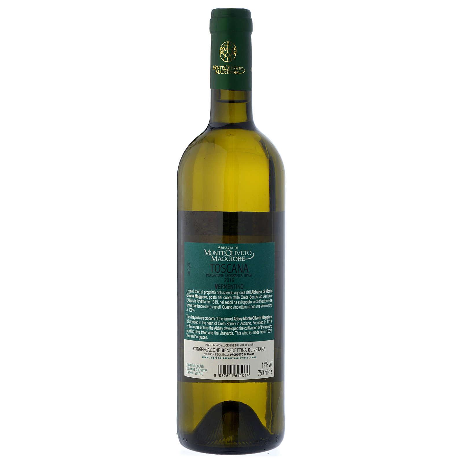 Vino Toscano Bianco 2016 Abbazia Monte Oliveto 750 ml 3