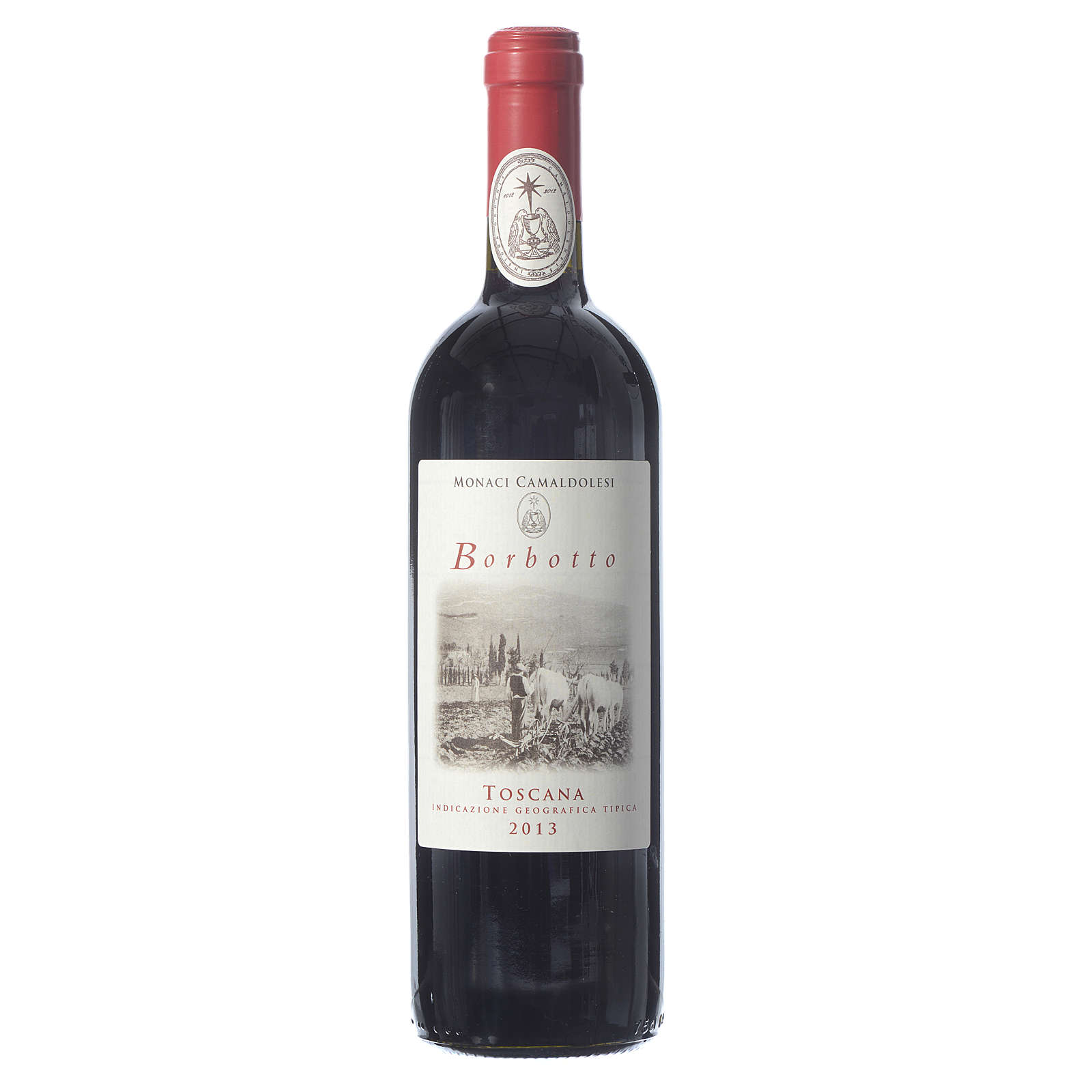 Red Tuscan wine Borbotto, 750 ml, 2013 harvest 3