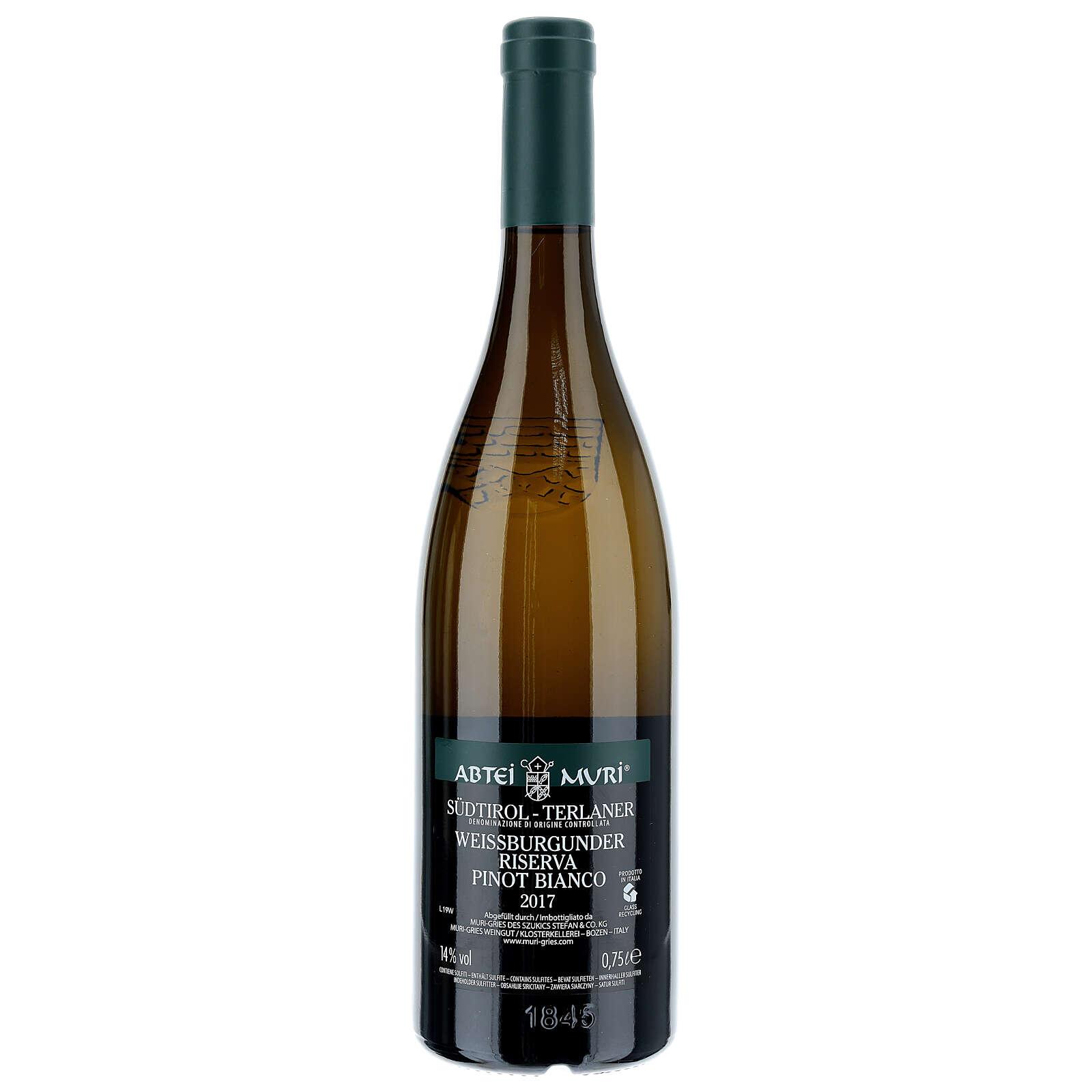 Vino Weiss blanco DOC 2017 Abadía Muri Gries 750 ml 3