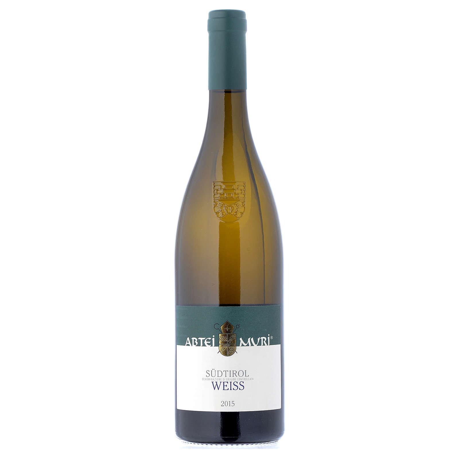 Vino Weiss bianco DOC 2015 Abbazia Muri Gries 750 ml 3
