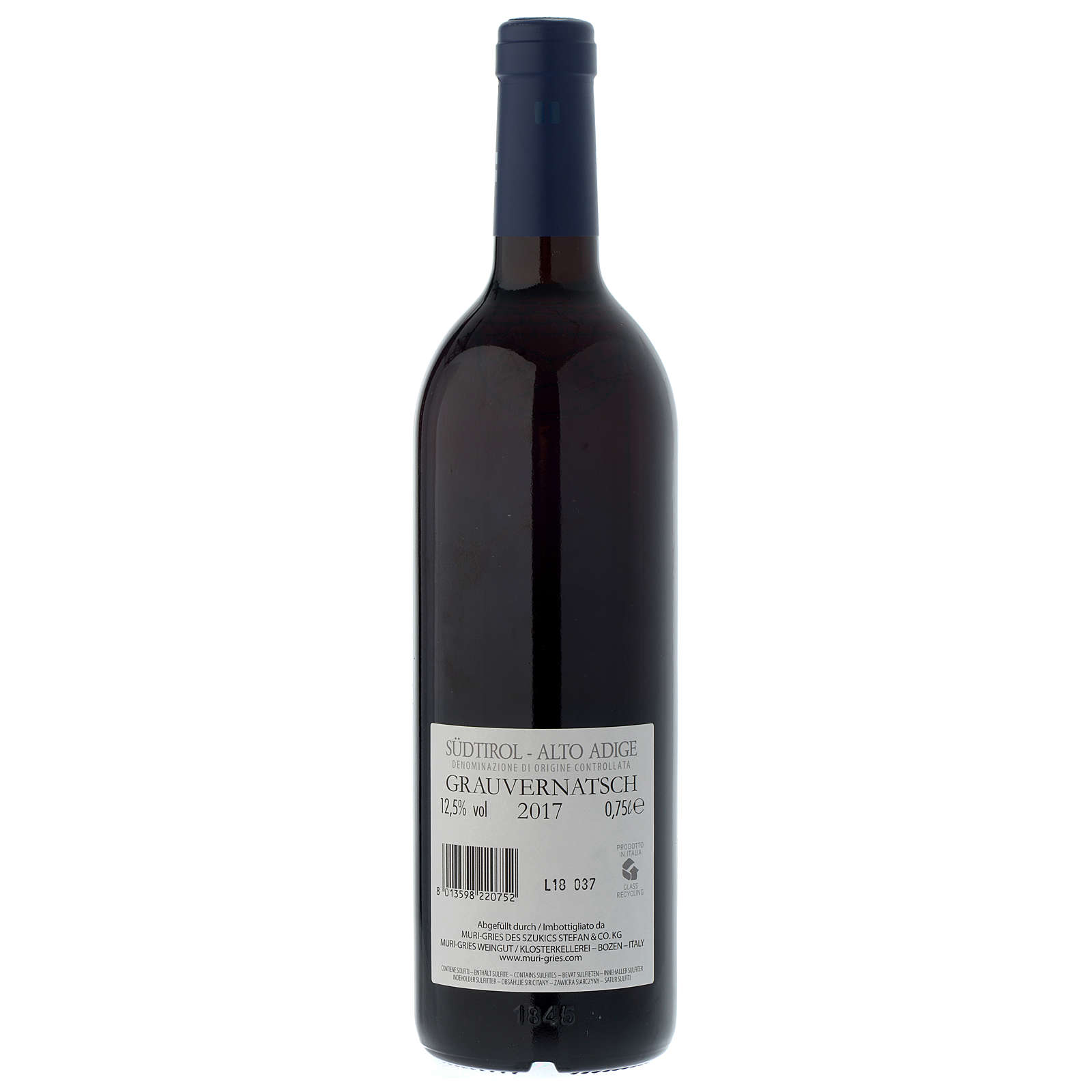 Schiava Grigia DOC wine 2017 Muri Gries abbey 750 ml 3