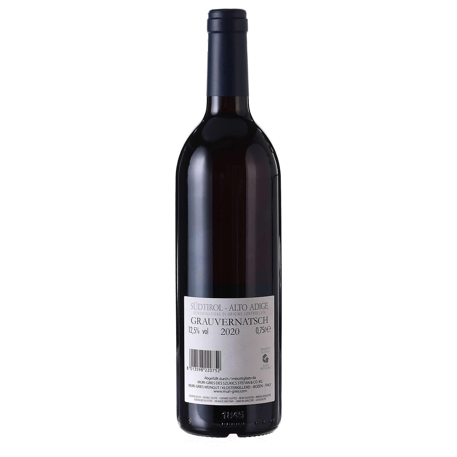 Schiava Grigia DOC wine 2020 Muri Gries abbey 750 ml 3