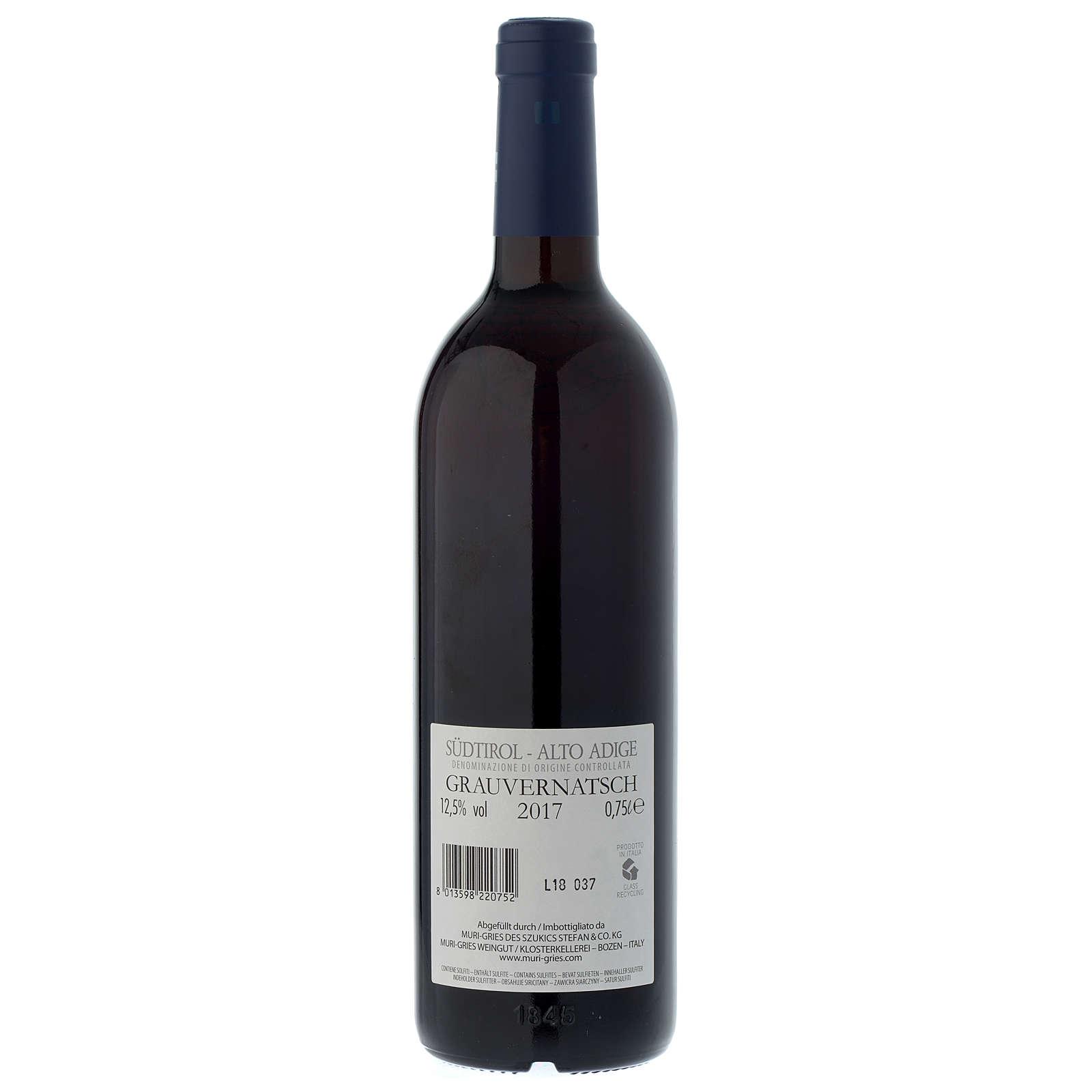 Red wine Schiava Grigia DOC 2017 Muri Gries abbey 750 ml 3
