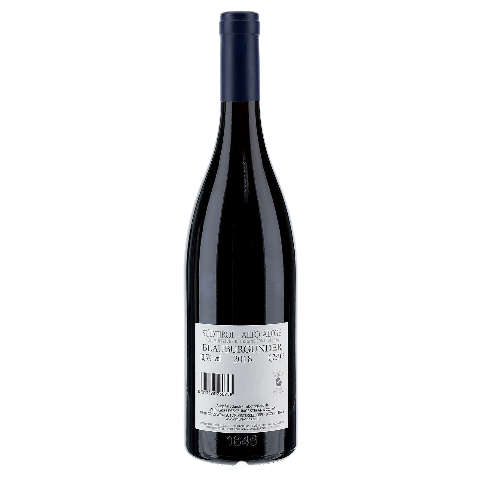 2018 CDO Pinot Nero red wine from the Abbey of Muri Gries in South Tyrol 750 ml 3