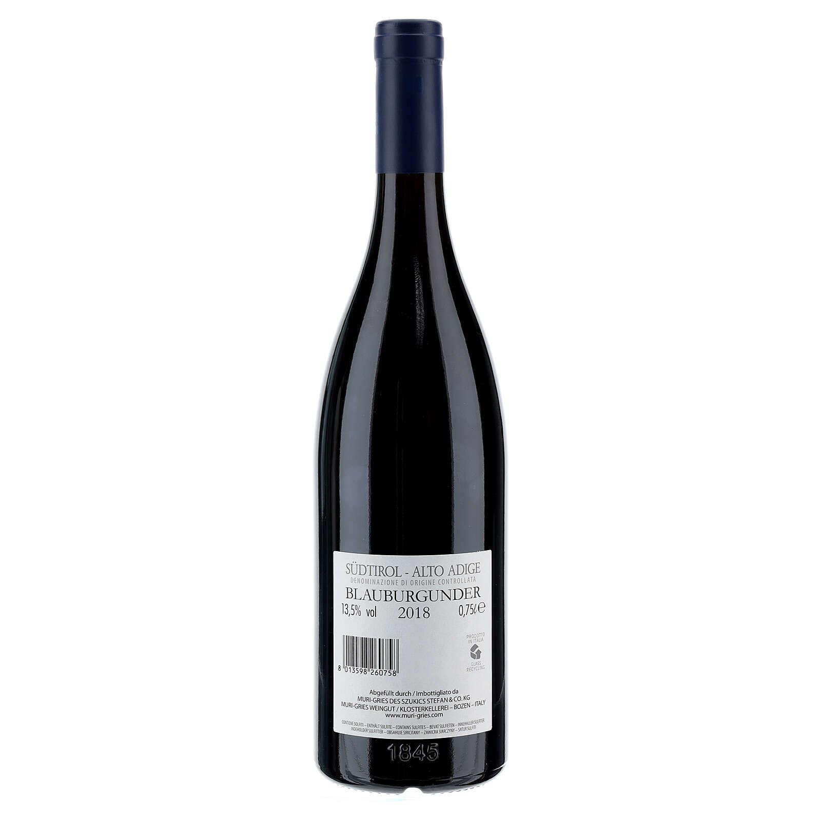 Vino Pinot Negro DOC 2018 Abadía Muri Gries 750 ml 3