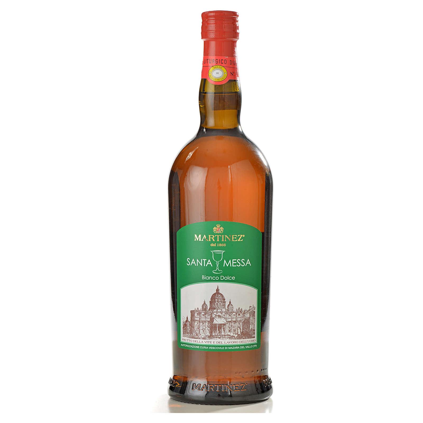 Wino mszalne białe , słodkie Martinez 3