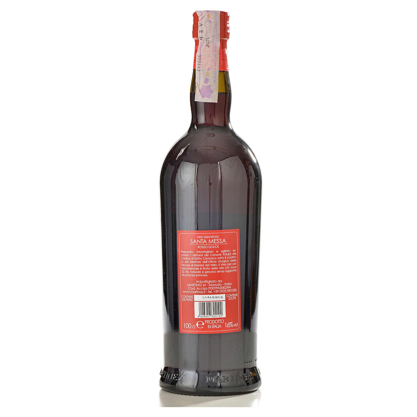 Wino mszalne czerwone, słodkie Martinez 3
