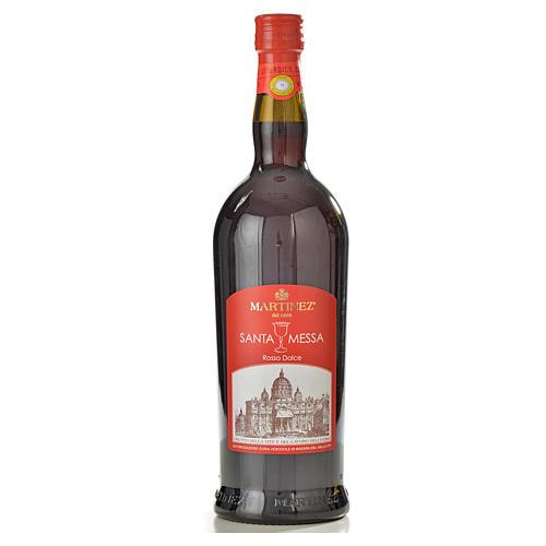 Wino mszalne czerwone, słodkie Martinez 1
