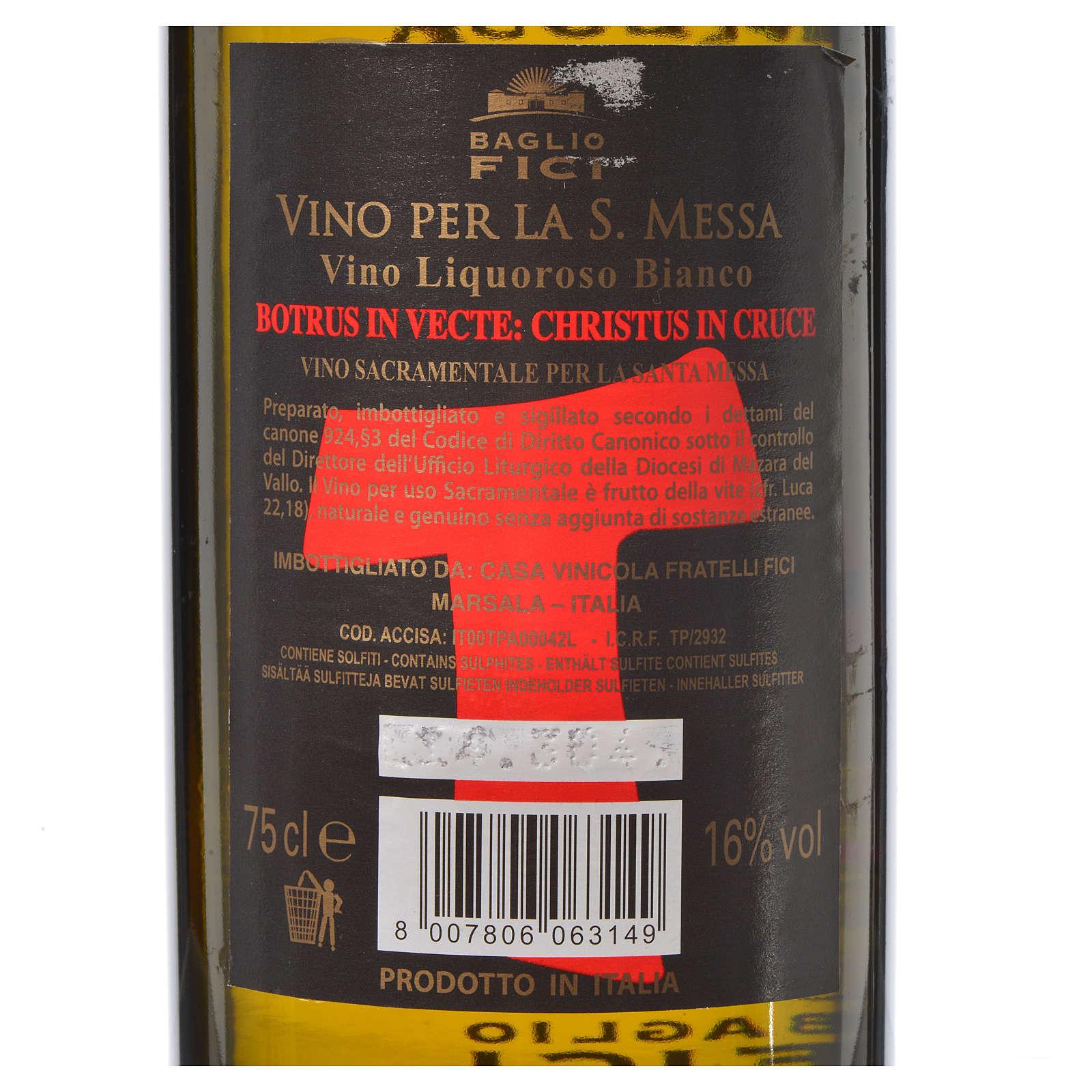 Altar wine from Sicily, white Marsala 3
