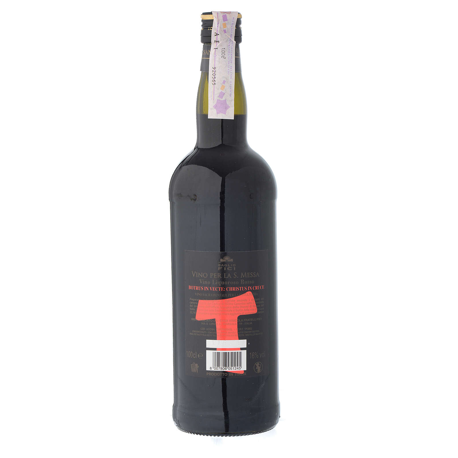 Vinho de Missa Marsala Sicília licoroso tinto 3