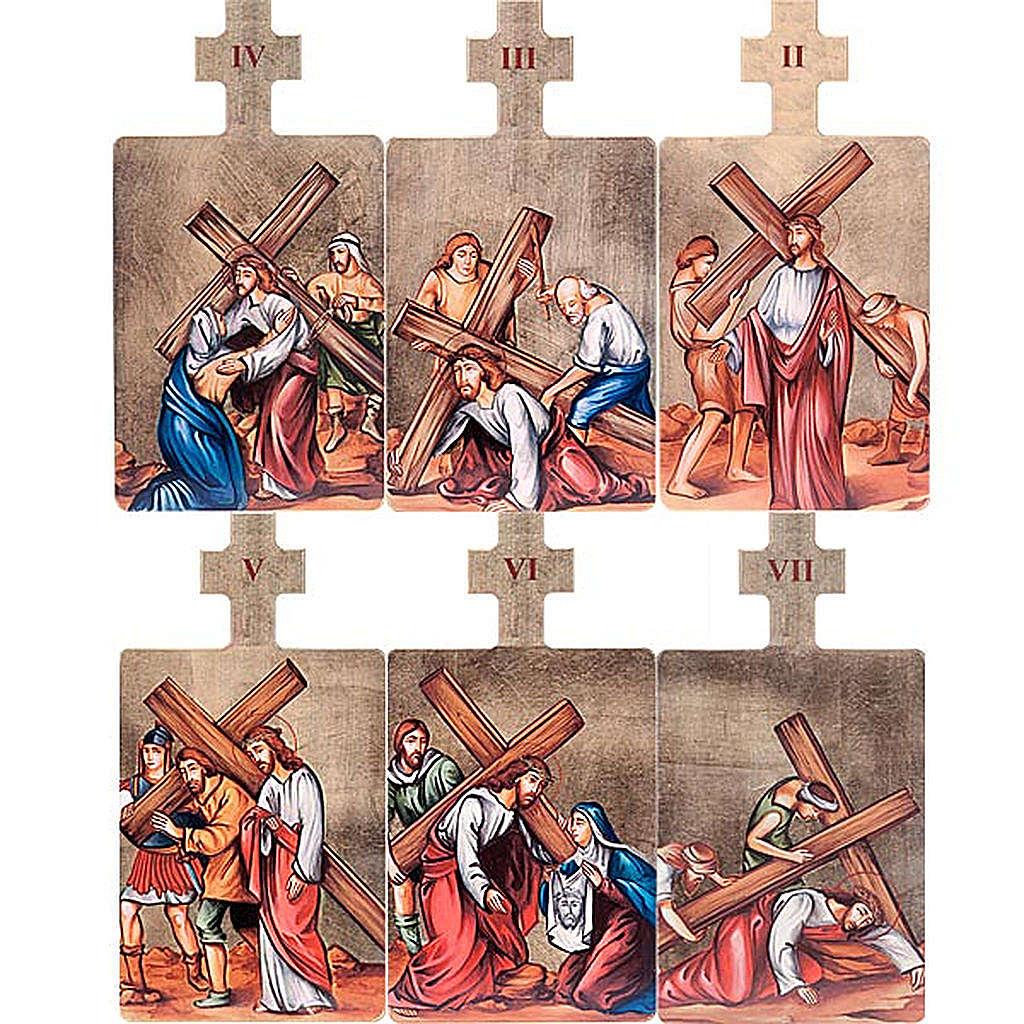 Cuadros estaciones Vía Crucis 15 piezas madera 4