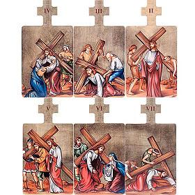 Quadri Stazioni Via Crucis 15 pezzi legno s4
