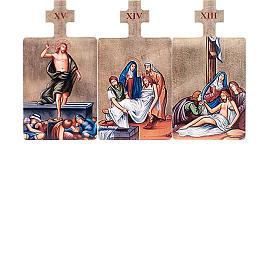 Quadri Stazioni Via Crucis 15 pezzi legno s6