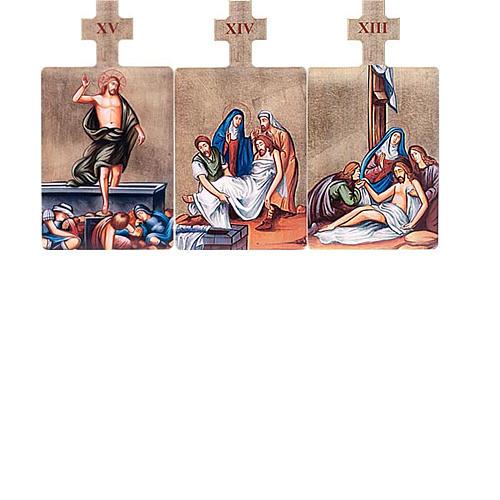 Quadri Stazioni Via Crucis 15 pezzi legno 6