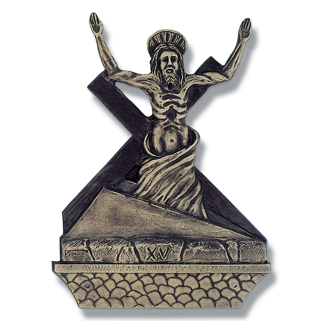 Cuadros estaciones Vía Crucis 15 piezas bronce 4