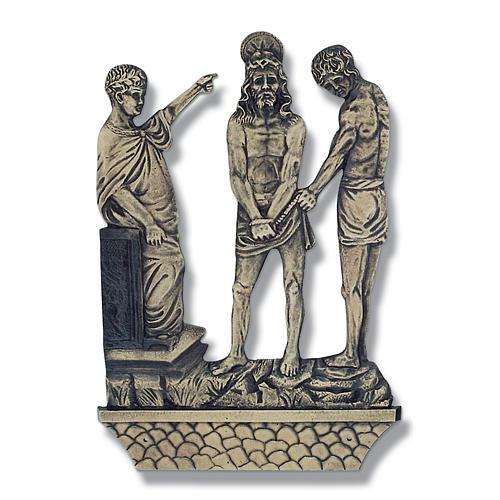 Cuadros estaciones Vía Crucis 15 piezas bronce 1
