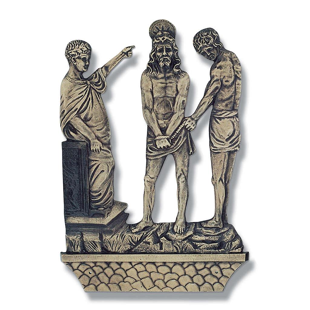 Stazioni Via Crucis 15 quadri bronzo 4