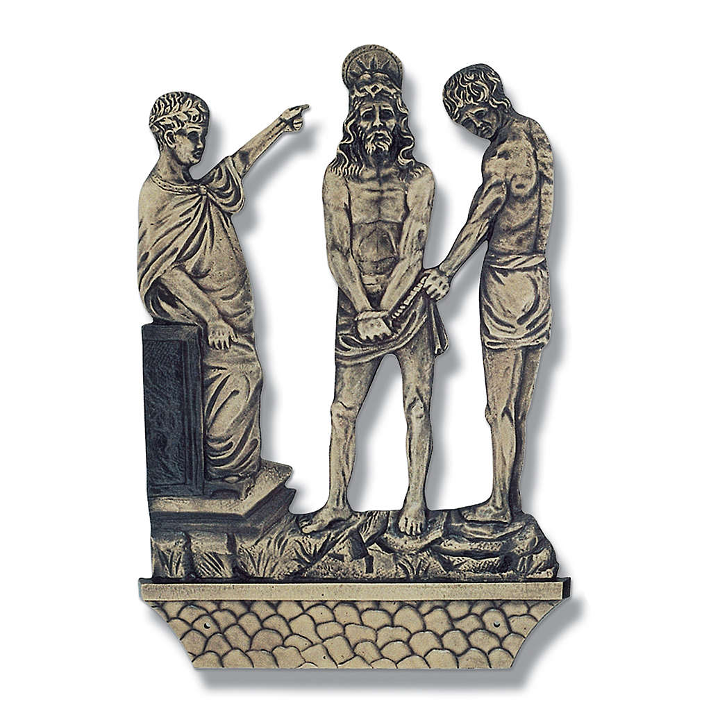 Way of the Cross in bronze, 15 stations 4