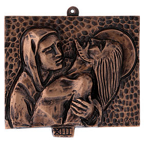 Way of the Cross in hammered bronze, 15 stations s13