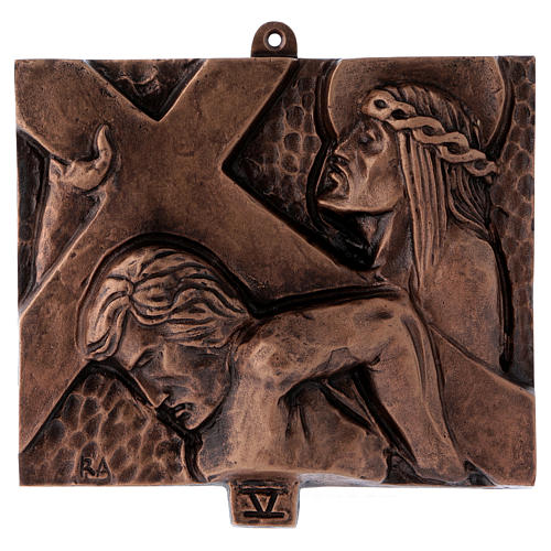 Way of the Cross in hammered bronze, 15 stations 5
