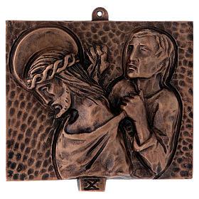 Cuadros estaciones Vía Crucis 15 piezas bronce martillado s10