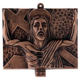 Cuadros estaciones Vía Crucis 15 piezas bronce martillado s15