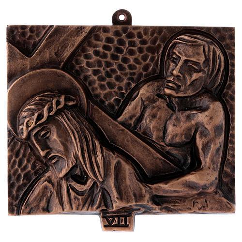 Cuadros estaciones Vía Crucis 15 piezas bronce martillado 7
