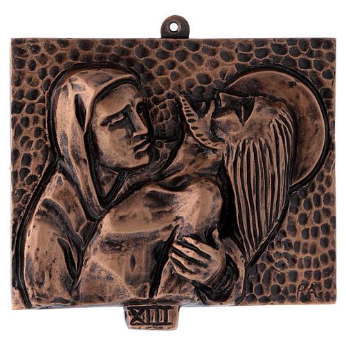 Cuadros estaciones Vía Crucis 15 piezas bronce martillado 13