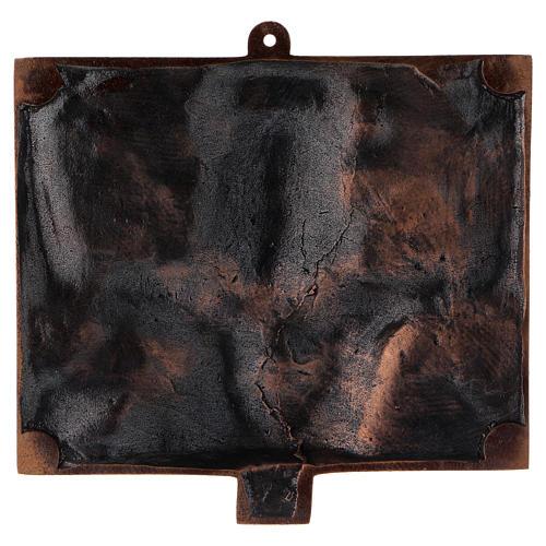 Cuadros estaciones Vía Crucis 15 piezas bronce martillado 17